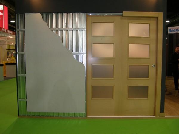 Estructura doble hoja paralela acorazol puertas - Puertas de aluminio doble hoja ...